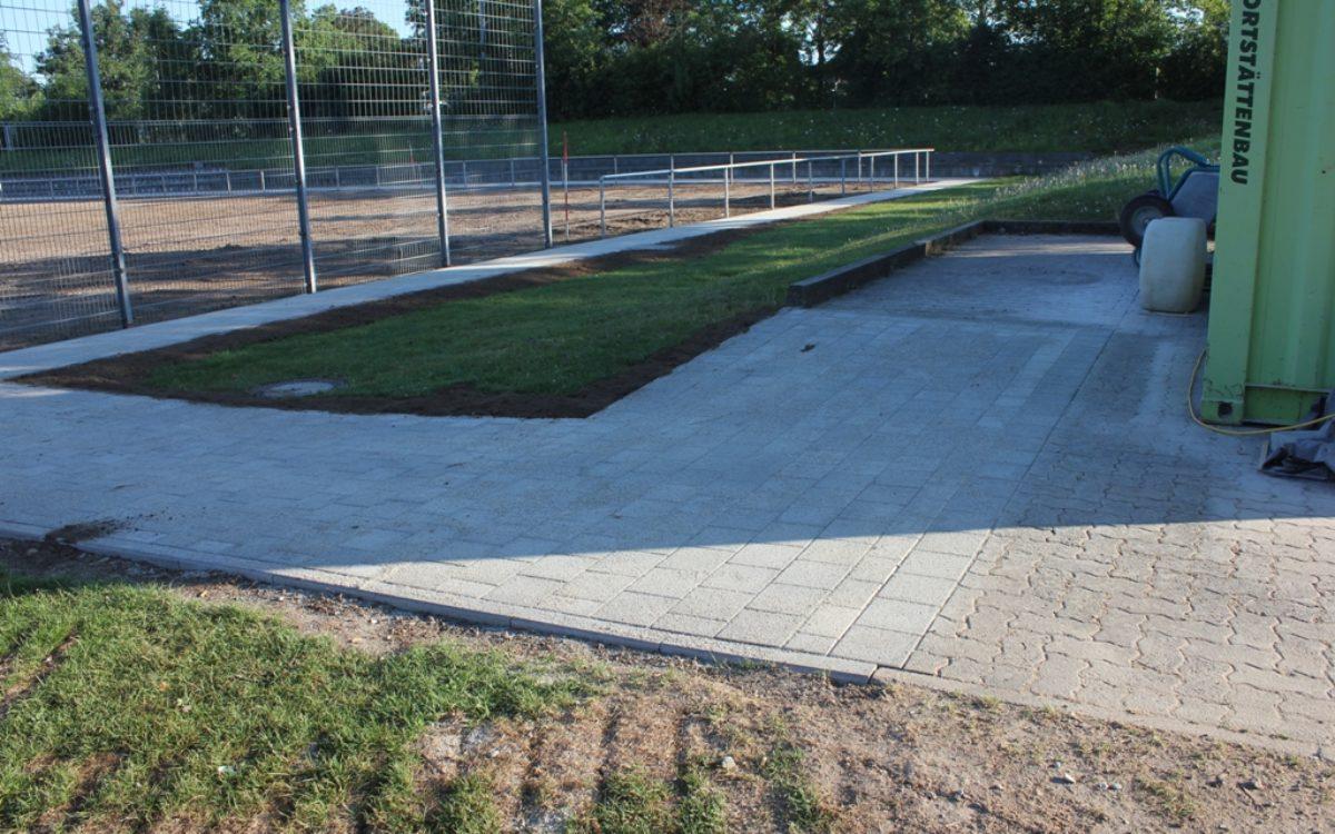 19.07.2016 Pflasterarbeiten inkl. Anschlussarbeiten fertiggestellt