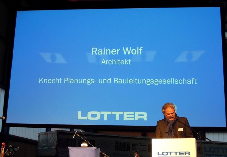 Ansprache Architekt Rainer Wolf