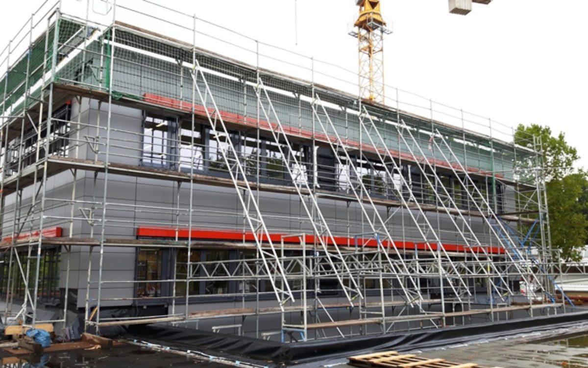 20.10.2016 Fassadenfront 1. Bauabschnitt