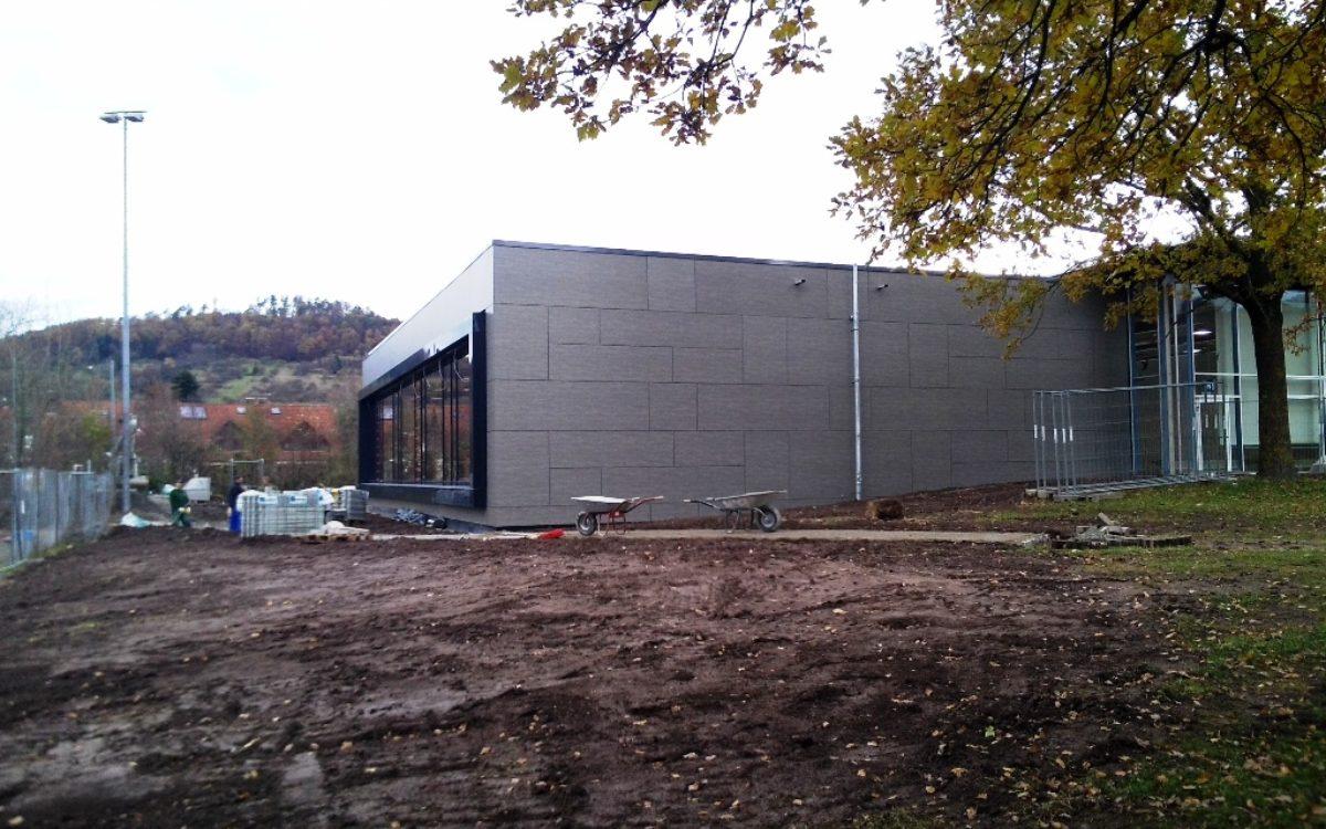 17.11.2016 Halle vor der Fertigstellung