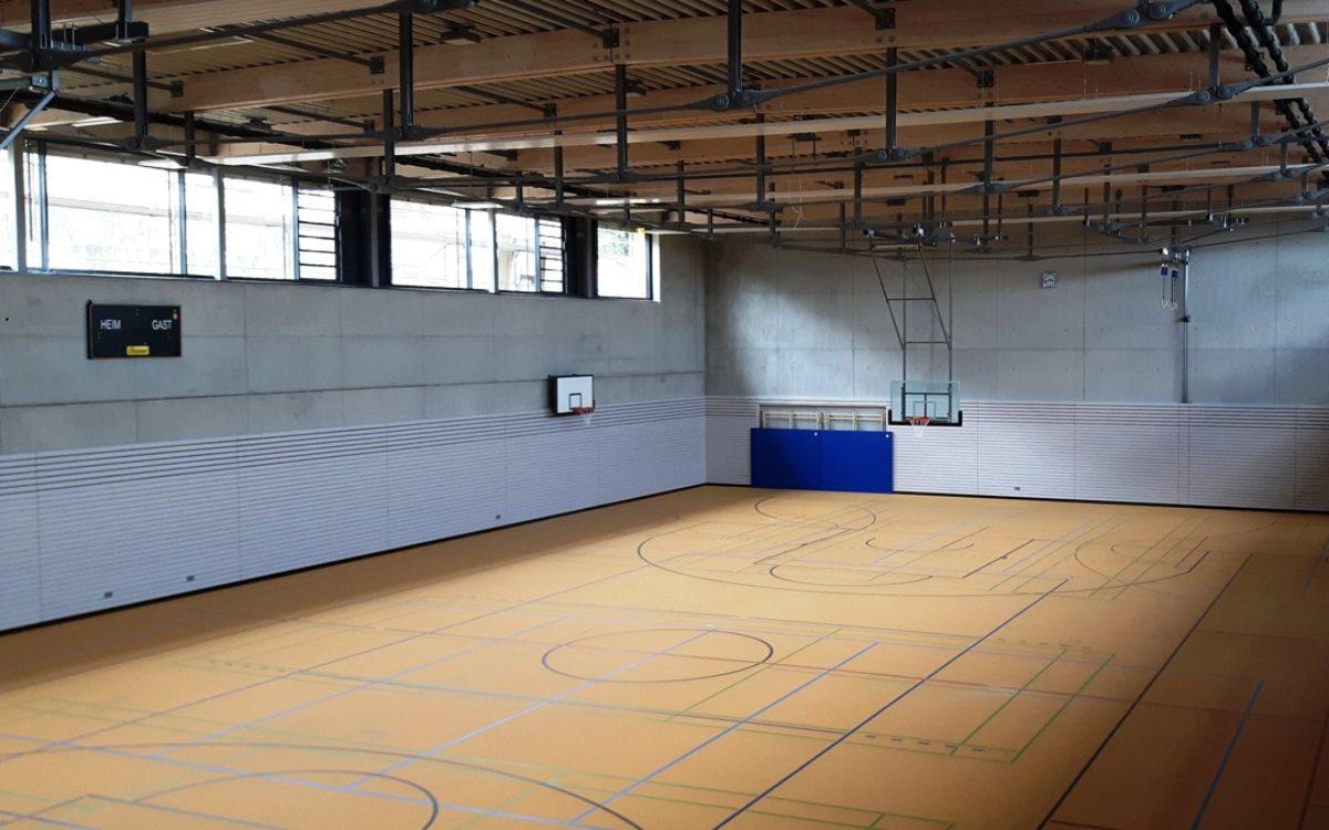 2017-07-11_ Fertistellung Sportboden und Sportgeräte Halle 2