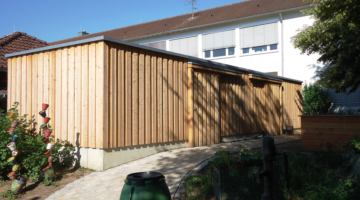 Paul-Aldinger-Schule Garagen, Remisen und Freianlagen