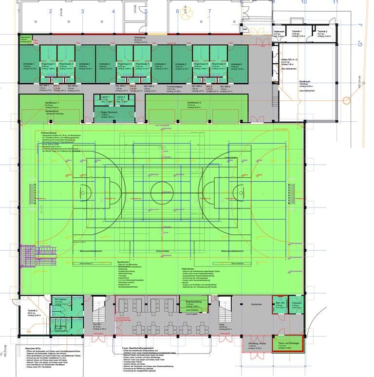 Steinheim Sanierung Riedhalle