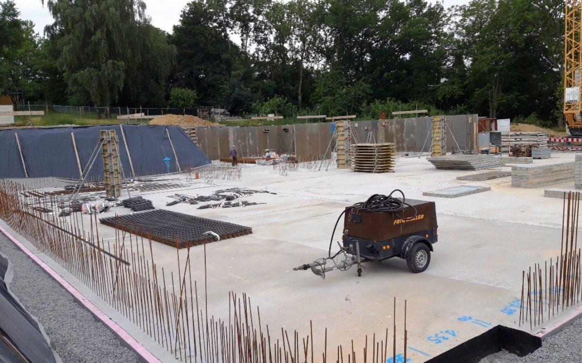 11-07-2019 Bodenplatte betoniert