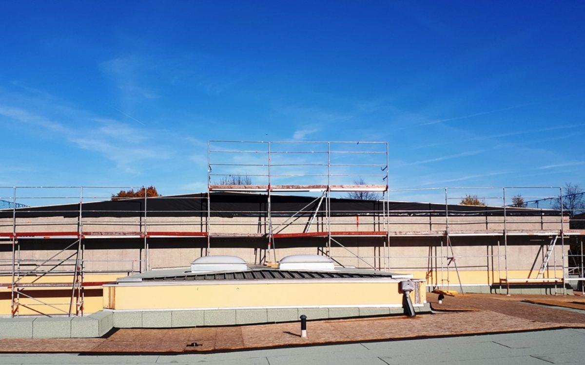11-11-2019 neue Dachform am Hallendach