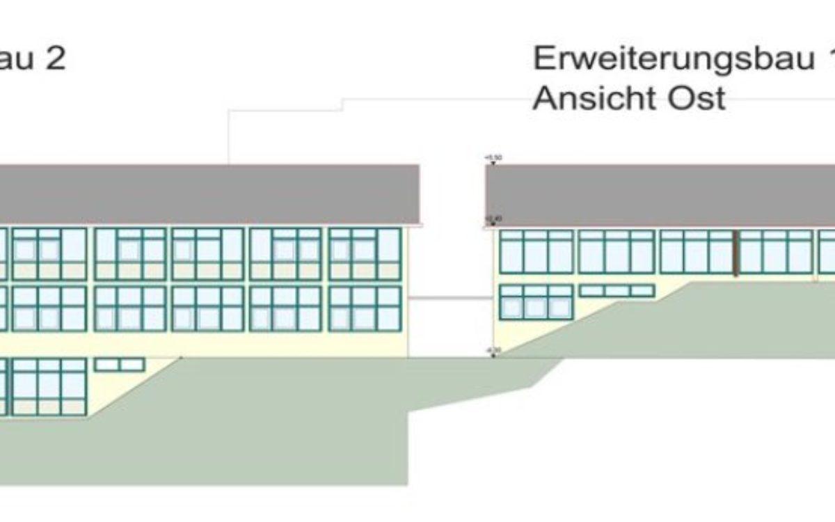 Erweiterungsbau 1+2 Ansicht Ost