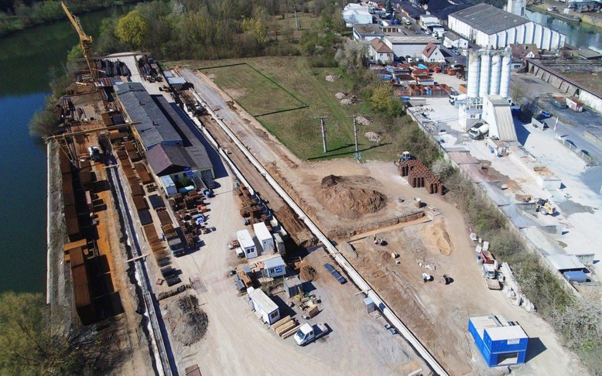 21-04-2020 Kranbahnfundamente und neue Stützmauer