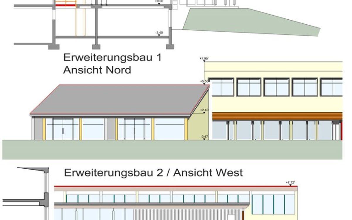 Erweiterungsbau West und Nordseite