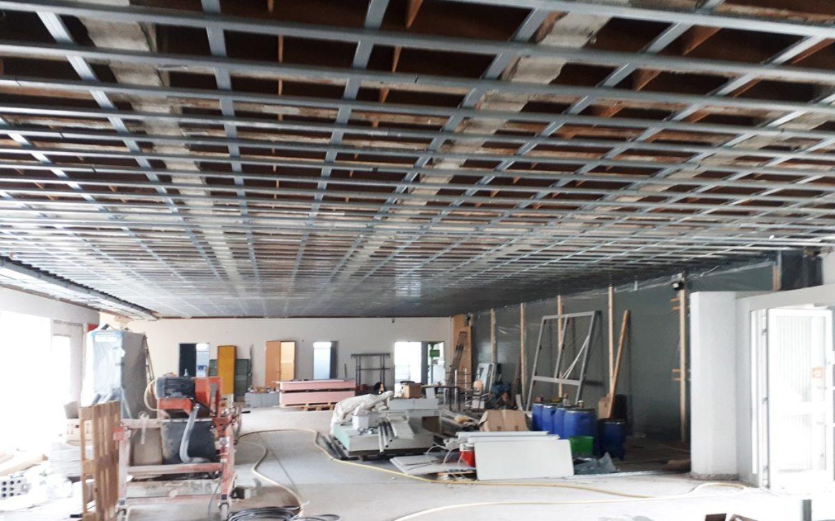 09-05-2020 Deckenunterkonstruktion Aula