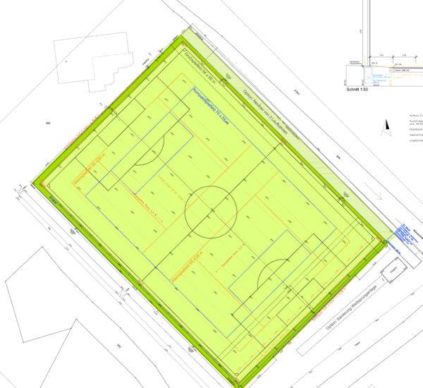 Auenwald Neubau Kunstrasenplatz