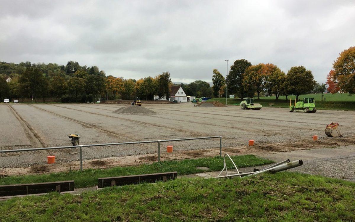 2020-10-27 Rasen entfernt und Drainage verlegt