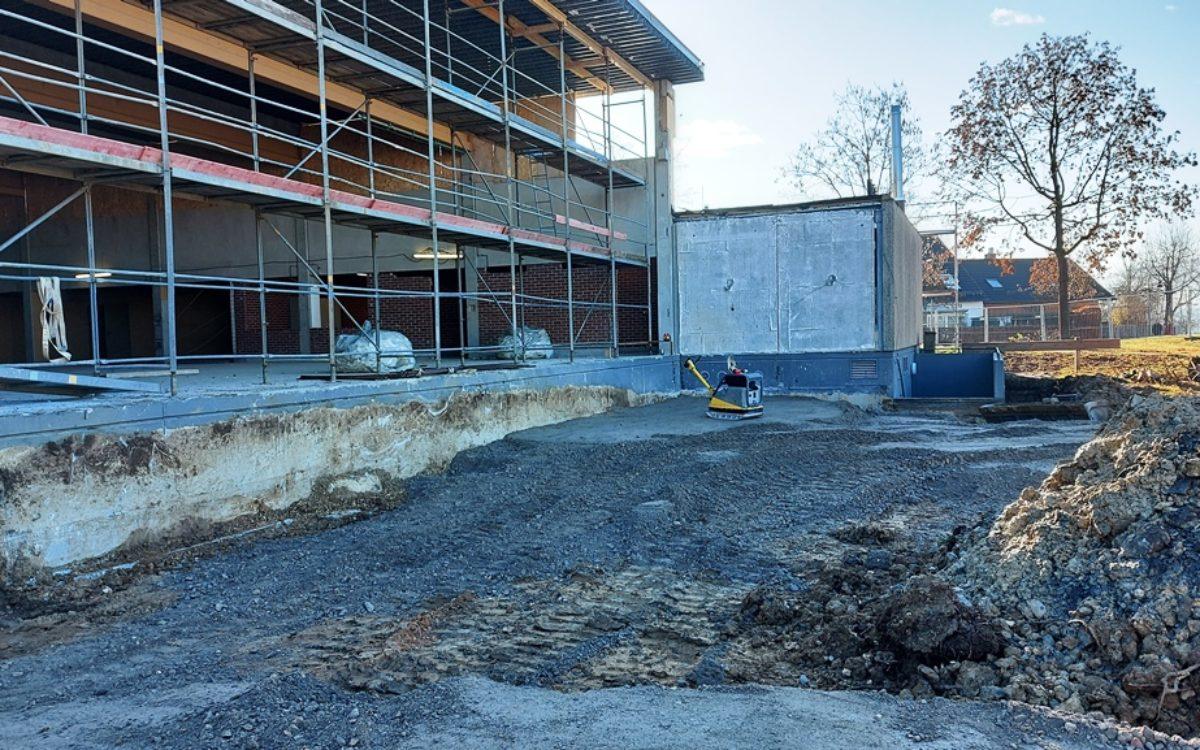 2020-12-16 Abbrucharbeiten für Hallenerweiterung