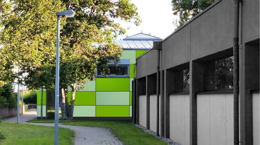 Gymnastiksaal Owen Fassadensanierung
