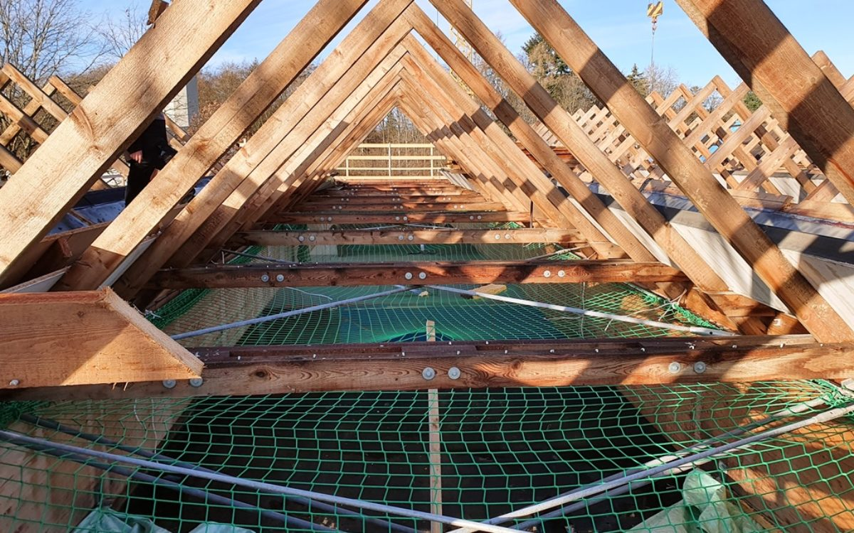 2021-02-16 Arbeiten am Dach