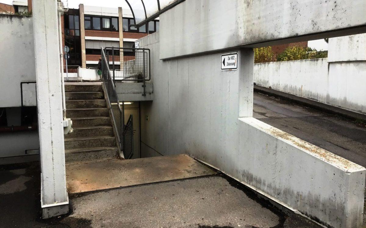 2021-04-29 Treppenaufgang und Auffahrt